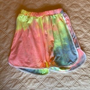 High-Waisted Tie Dye Shorts